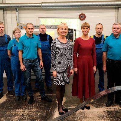 Presidential visit in Vändra